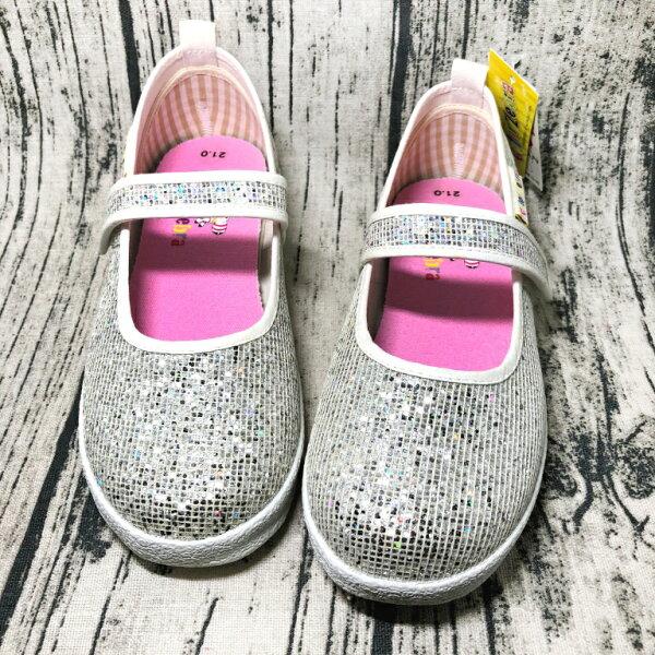 巷子屋:【零碼出清-21號】ColorZebra女童亮蔥造型娃娃鞋公主鞋[2130]銀MIT台灣製造超值價$150【單筆消費滿1000元全會員結帳輸入序號『CNY100』↘折100】