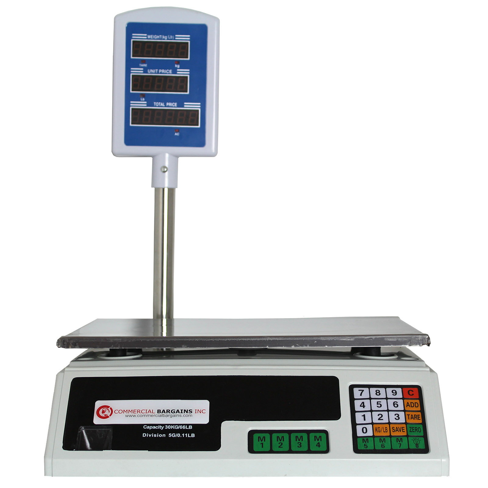Scale Food Price Digital Computing Produce Meat Deli Weight Counting 60lb Acs 30 0