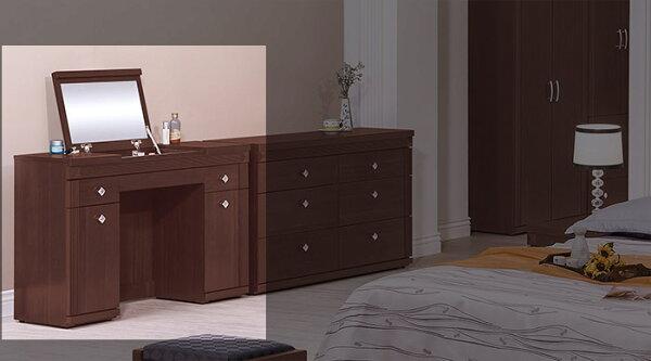 【尚品傢俱】HY-A193-07布雷克3.6尺鏡台(含椅)