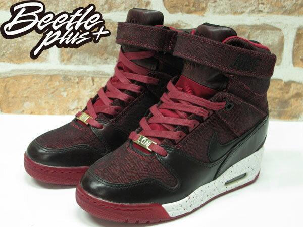 BEETLE PLUS 全新 NIKE WMNS AIR REVOLUTION SKY HI CITY 城市限定 LONDON 倫敦 牛仔布紋 楔型 女鞋 內增高 633525-600 1
