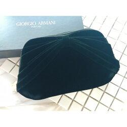 Giorgio Armani 黑色絨布晚宴包((~*