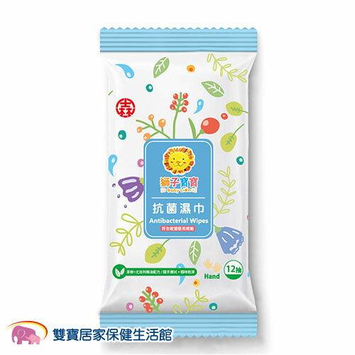 獅子寶寶 茶樹配方抗菌濕巾 濕紙巾(12抽)