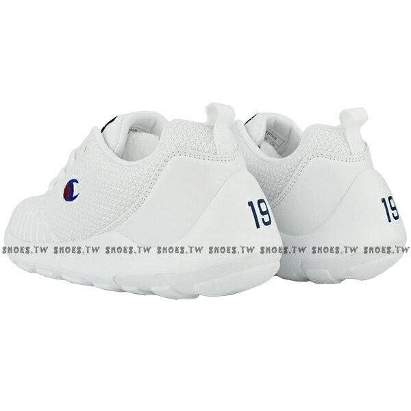 Shoestw【911210200】【911220200】Champion CAMPUS AI 休閒鞋 網布 條紋 白色 男女尺寸 情侶款 2