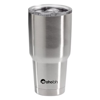 Mahobin魔法瓶 304不鏽鋼雙層真空加蓋啤酒杯/保溫杯/保冰杯800cc(MF0386)