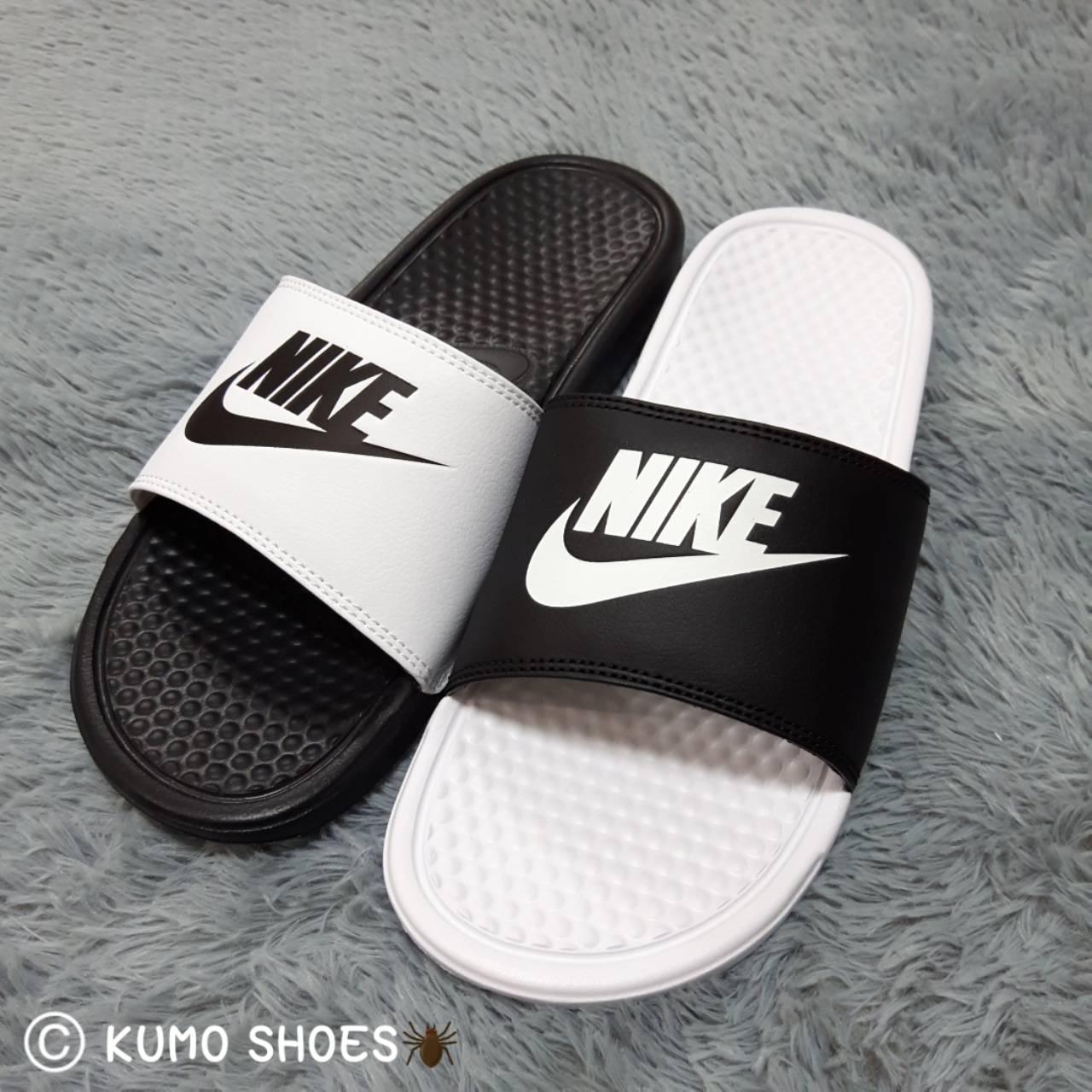 NIKE 陰陽 拖鞋 黑 白 涼鞋 拖鞋 男女鞋 818736-011