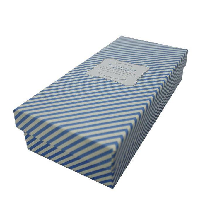 斜紋款 水藍色 禮物盒.包裝禮盒.附紙絲 包裝盒.生日禮盒.鞋盒.紙盒 ☆真愛香水★