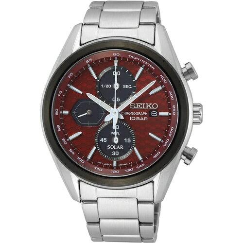 SEIKO 精工 喬治亞羅設計三眼計時太陽能腕錶(SSC771P1)V176-0BH0R