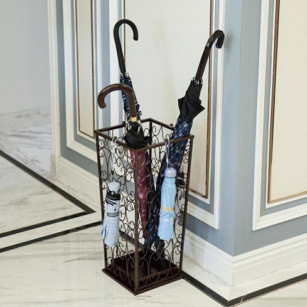 家用雨傘架鐵藝辦公雨傘桶放掛折疊雨傘收納桶酒店 LX 清涼一夏特價