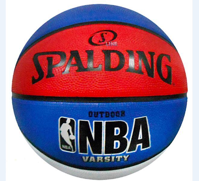 [陽光樂活] 斯伯丁 SPALDING 戶外橡膠籃球 籃球 NBA Varsity 白/藍/紅 #7 SPA83275