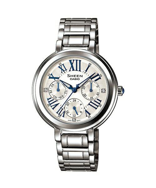 CASIO SHEEN SHE-3034D-7A古典時尚腕錶/白色34mm