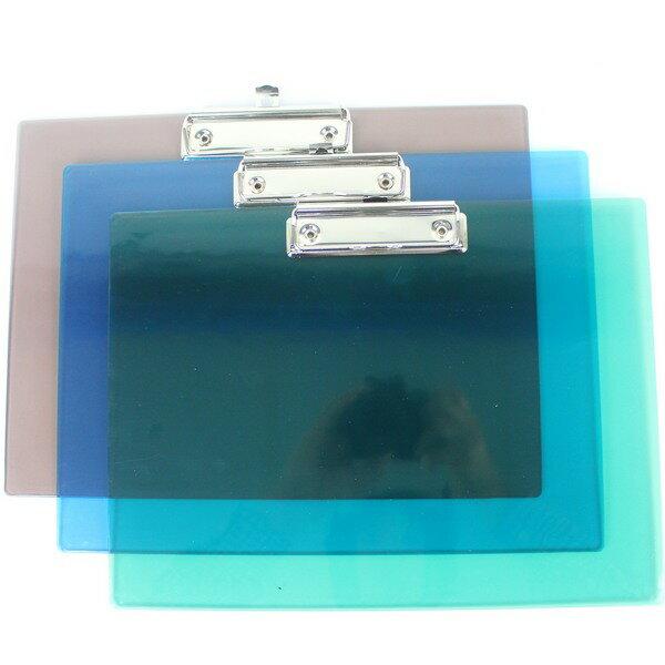 A4壓克力板夾 LM-2005 亮美A4板夾(橫式.透明)/一個入 定[#60]~MIT製23cm x 32cm