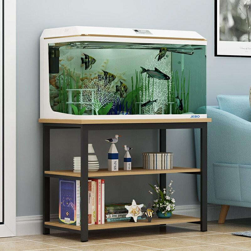 魚缸底座 草缸架鋼木魚缸底櫃定做魚缸架子簡易家用型魚缸底座多層烏龜缸架b515
