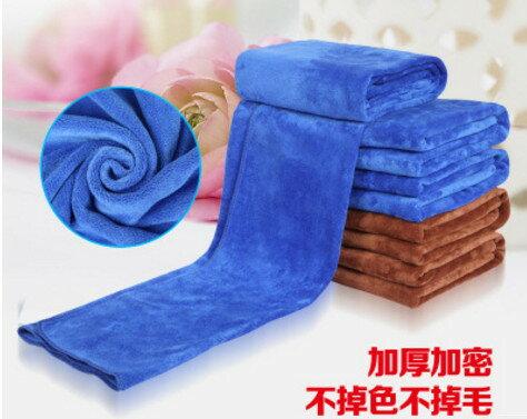 【威力鯨車神】加厚磨絨超細纖磨絨維洗車巾/吸水巾/擦車布/抹布30x70cm(2入)-顏色隨機