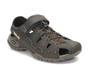 [陽光樂活]TEVA Dozer 4(男) 戶外謢趾水陸運動涼鞋 覆趾涼鞋 TV1006248BLKO 咖啡色