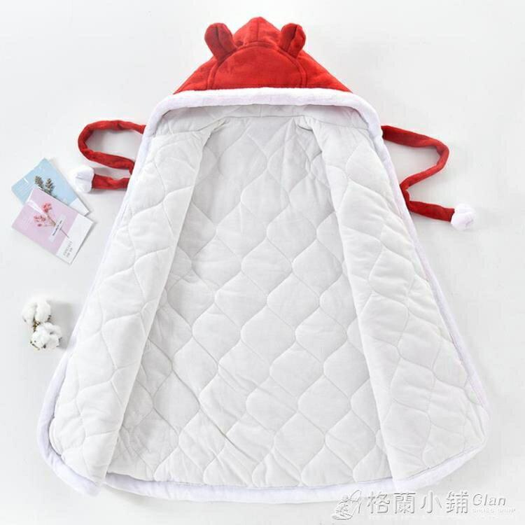 嬰兒披風斗篷秋冬季外出服加厚款新生幼兒童男女寶寶披肩外套保暖 樂樂百貨