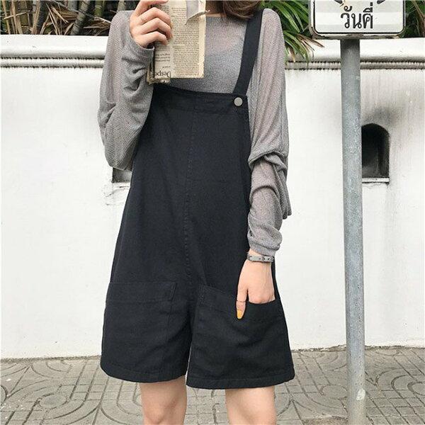 套裝透視薄款長袖罩衫吊帶褲短褲兩件套套裝【MY1869】BOBI0705