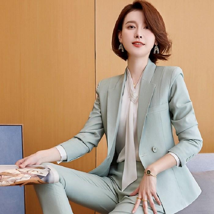 帥氣領型挺拔韓版中長西裝外套[21S007-PF]灰姑娘