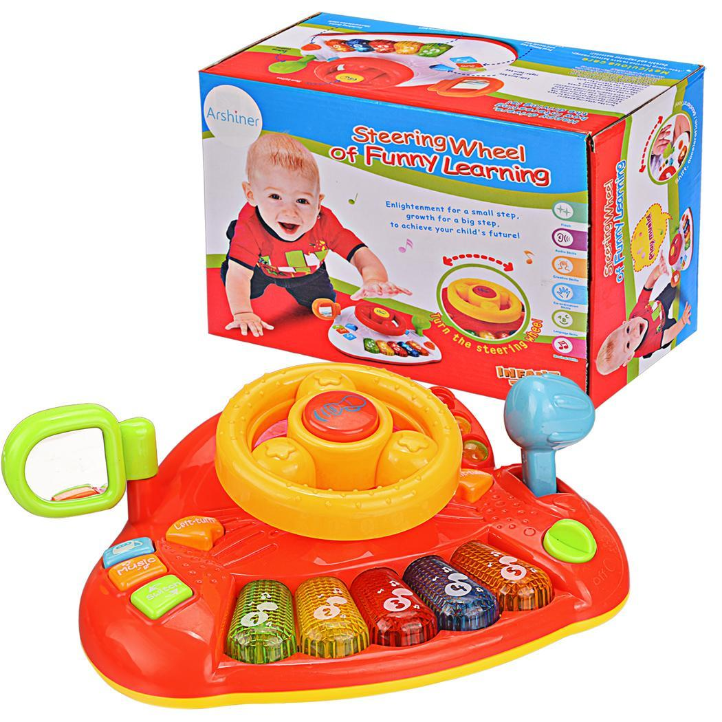 Educational Development Learn and Discover Driver Toy Plastic Steering Wheel Keyboard 4