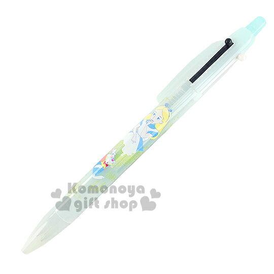 〔小禮堂〕迪士尼 愛麗絲 日製多用途筆《藍.時鐘兔.玫瑰》2色+0.5mm自動鉛筆