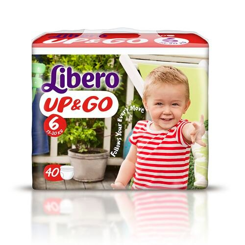 『121婦嬰用品館』麗貝樂 Libero 褲型紙尿褲(拉拉褲)(敢動褲)(尿布) XL 6號-40片x6包/箱