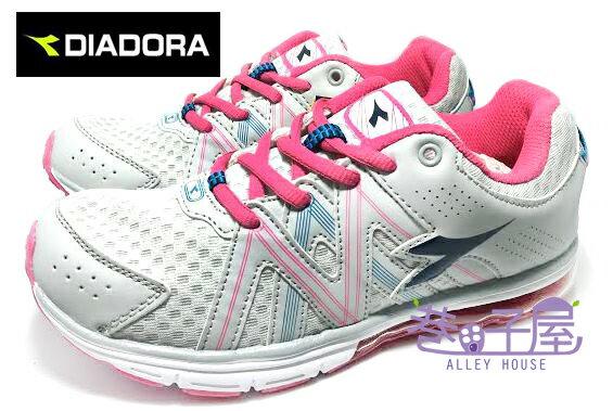 【巷子屋】義大利國寶鞋-DIADORA迪亞多納 女款超彈性四大機能抗壓大氣墊運動跑鞋 [9938] 灰 超值價$498