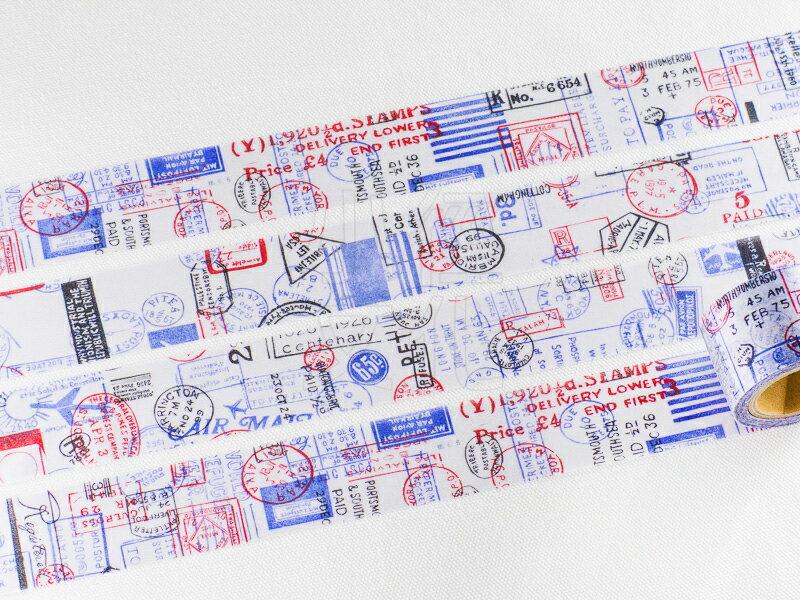 *小徑文化* | 台灣原創 | 日本進口和紙膠帶 小徑 X 夏米花園 8th. 韶光荏苒 系列  - POST ( MTW-CH084 )