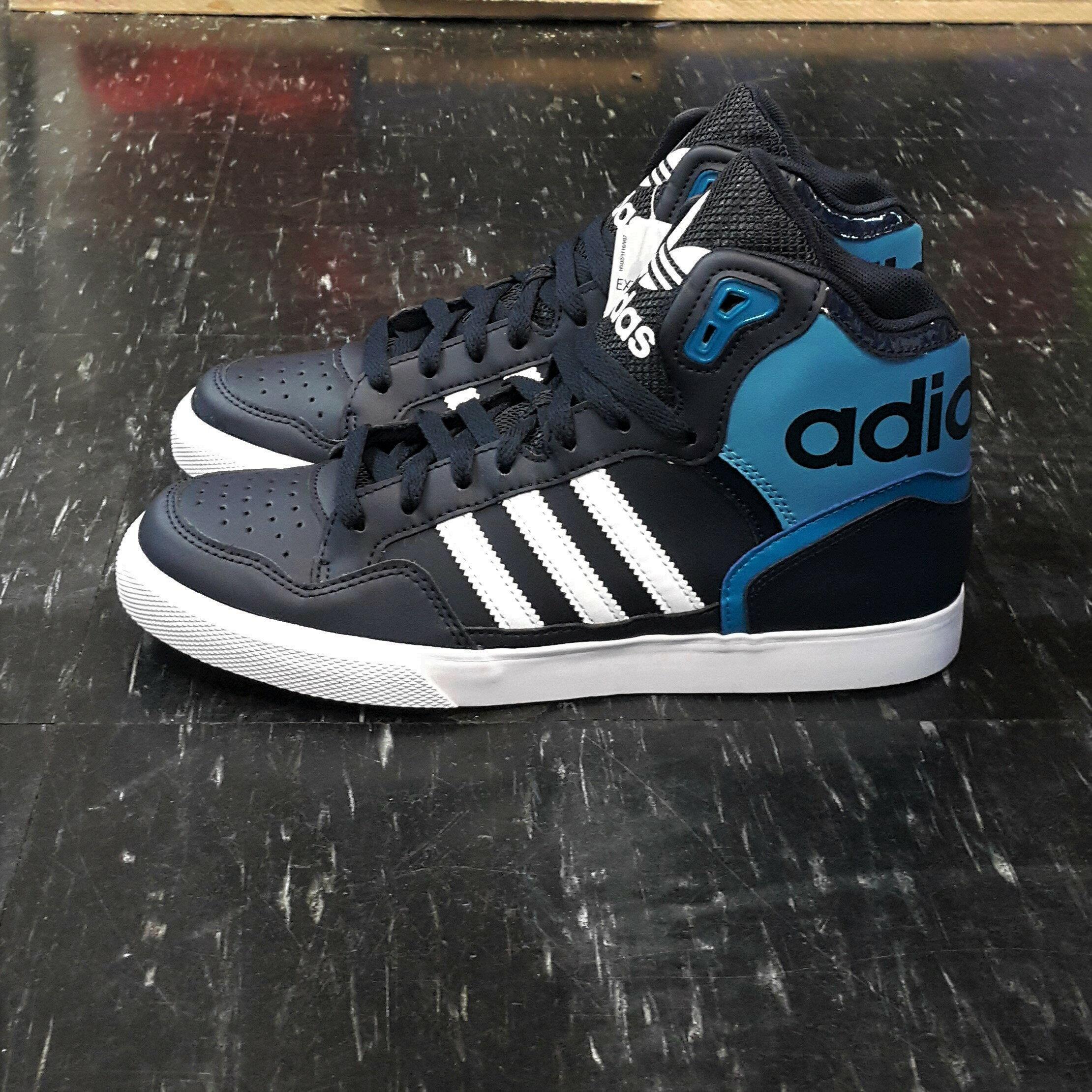 adidas EXTABALL W 高筒 大鞋舌 藍色 深藍色 淺藍色 皮革 CP9624