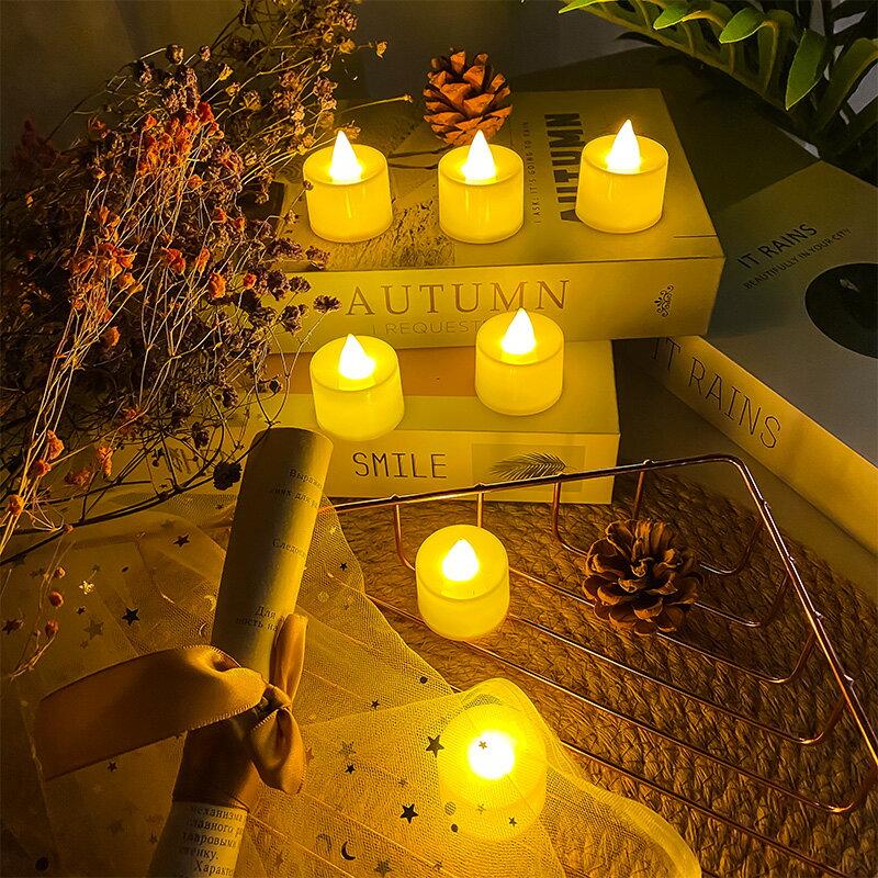 蠟燭燈 電子蠟燭 仿真小蠟燭發光LED電子燈表白裝飾浪漫創意求婚場景布置生日道具『CM43577』