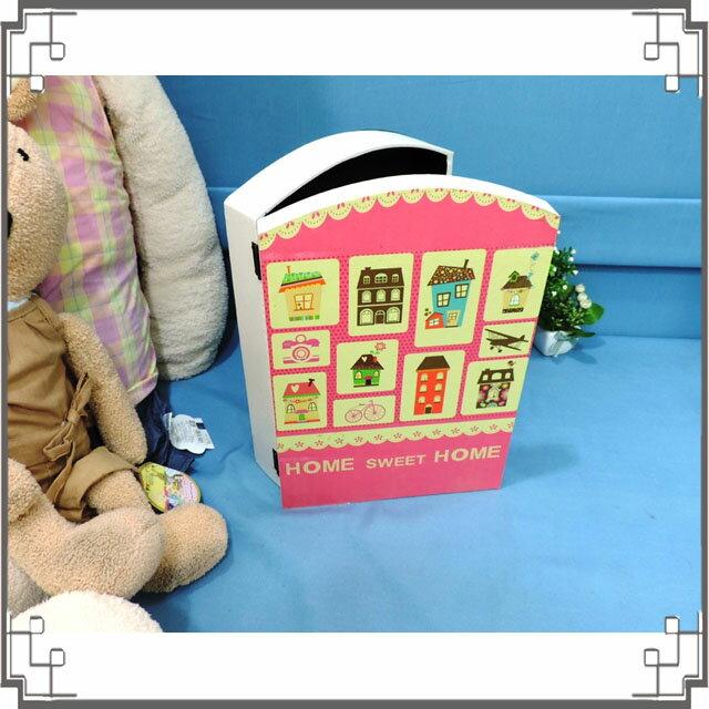 皮革KEY BOX《LK23-1》鄉村房屋木製皮革鑰匙盒 收納盒 壁櫃 壁飾 居家布置◤彩虹森林◥
