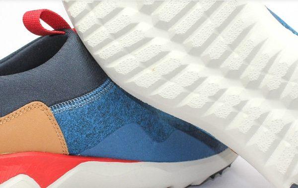 MERRELL 都會休閒款 避震氣墊 舒適耐走 直套式 免綁鞋帶 藍/卡其 男款 7