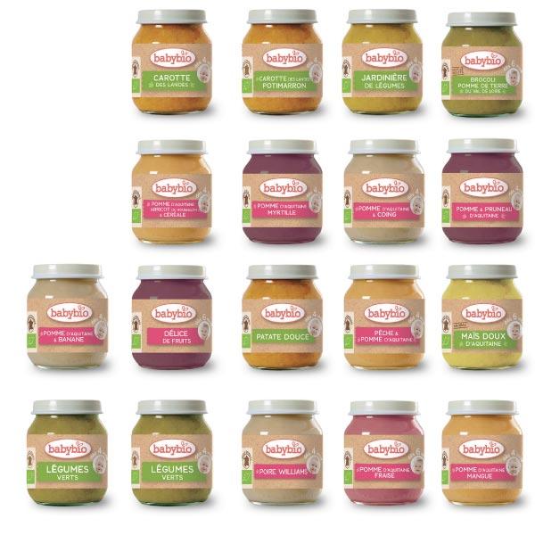 法國 BABYBIO 有機蔬菜泥|果泥130ml(18款可選) -法國原裝進口 嬰幼兒專屬副食品