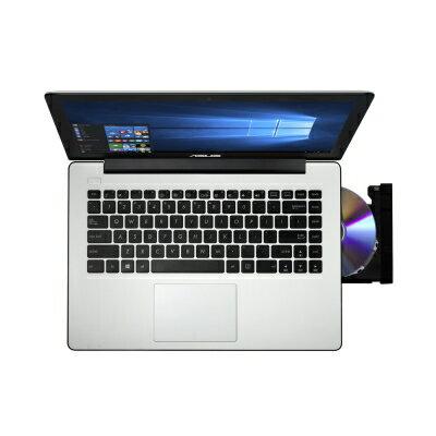 【純米小舖】ASUS X453SA 14吋四核筆電(N3700/500G/4G/1.82kg/三色)-經典白