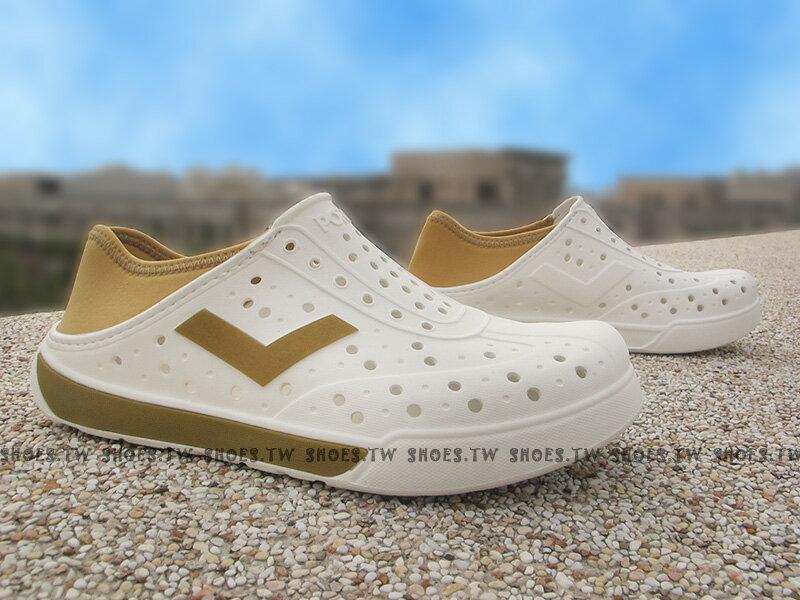 《限時特價79折》Shoestw【62U1SA67GD】PONY 洞洞鞋 可踩跟 新款 懶人拖 白金 男女都有