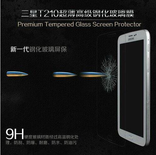 三星Tab3 7.0 T210 P3200平板鋼化膜 9H 0.4mm直邊 耐刮防爆玻璃膜 T211 鋼化膜