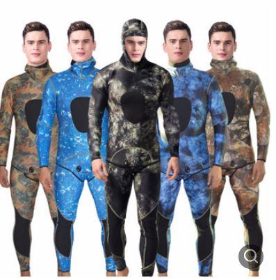 美琪 熱銷高彈保暖潛水服迷彩分體漁獵服迷彩服