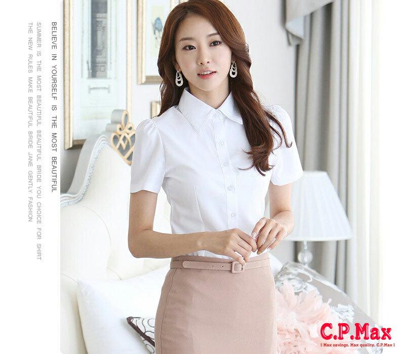 CPMAX 女襯衫 女上班襯衫短袖襯衫 修身襯衫 雪紡衫 正式襯衫 白色女襯衫 上班襯衫 商務襯衫 正式襯衫 襯衫 【W16】