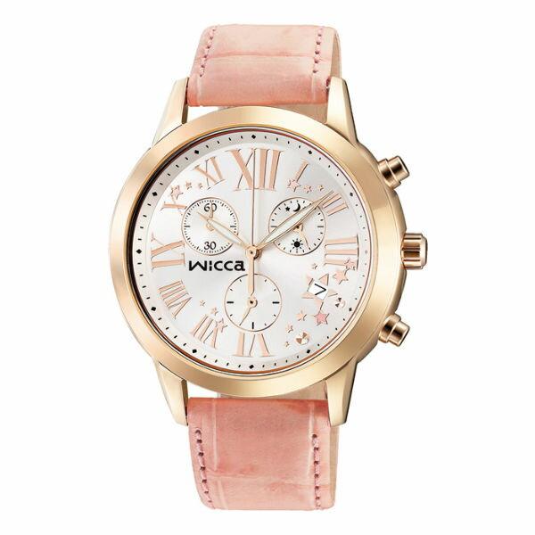 CITIZEN星辰WICCA^(BM1~261~10^)玫瑰羅馬三環 腕錶 白面38mm