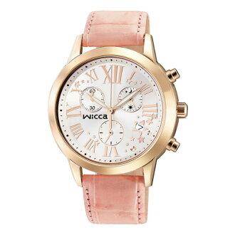 CITIZEN星辰WICCA(BM1-261-10)玫瑰羅馬三環時尚腕錶/白面38mm