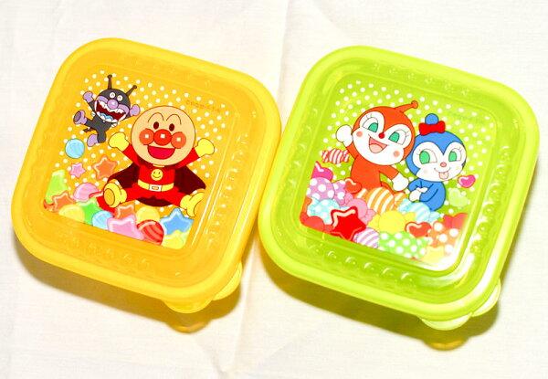 麵包超人可微波方形兩個一組收納盒餐盒置物盒保鮮盒日本製造正版商品
