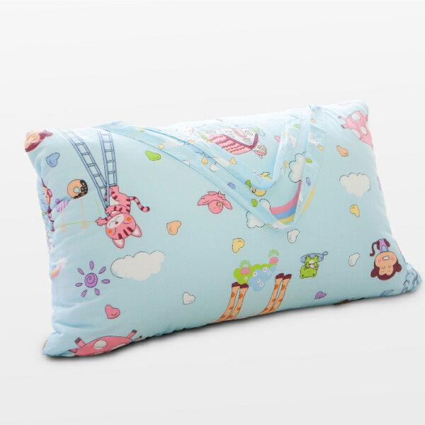 【名流寢飾家居館】嬉戲.100%純棉.兩用鋪棉型兒童睡袋