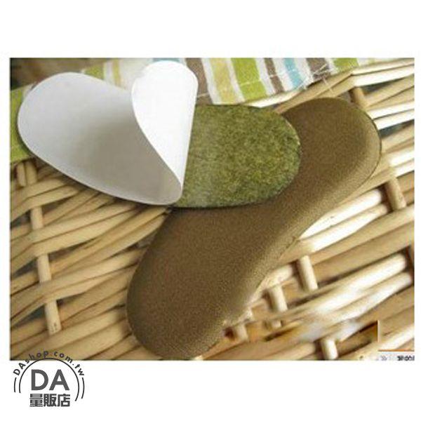 《DA量販店》2入 保護後腳跟 不織布 後腳跟貼 防磨貼 鞋貼 布面 海綿(V50-0094)