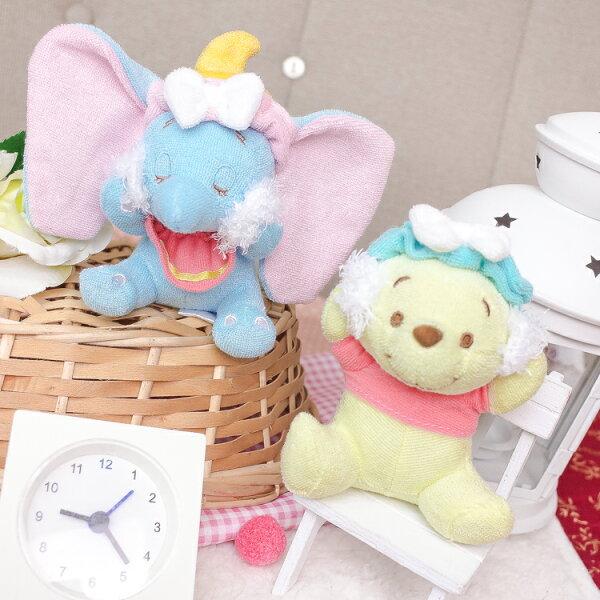 PGS7日本迪士尼系列商品-日貨小熊維尼Winnie小飛象毛巾布洗臉吊飾【SKD80037】