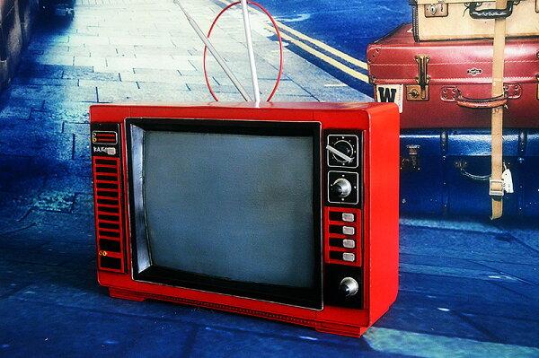 美琪中式懷舊凱歌牌黑白電視機手工藝品模型擺件預購7天+現貨
