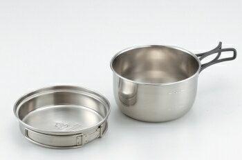 【【蘋果戶外】】文樑 ST-2011 不鏽鋼個人餐具 600cc (個人鍋 不鏽鋼碗 煎盤 個人碗炊具)