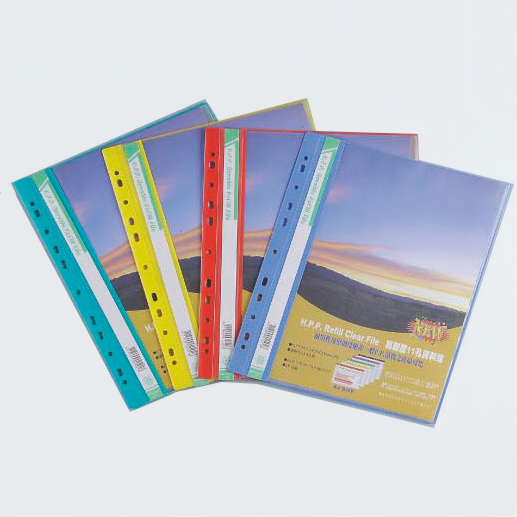 SANDER 新德文具 01-502 11孔資料簿 ( A4 ) 附名片袋 - 20頁