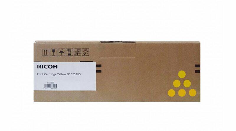 RICOH 原廠黃色碳粉匣  SP C250S Y / S-C250SYT 適用 RICOH SP C261DNw/SP C261SFNw▲最高點數回饋23倍送▲