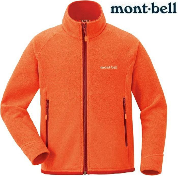 Mont-Bell 小朋友保暖外套/刷毛外套/兒童刷毛夾克 小童款 1104091 MAN 麻花橘 montbell