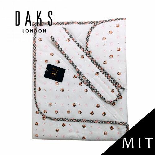 【限量破盤5折】英國【DAKS】MIT經典純棉印花小蓋被/包巾(水粉羊)