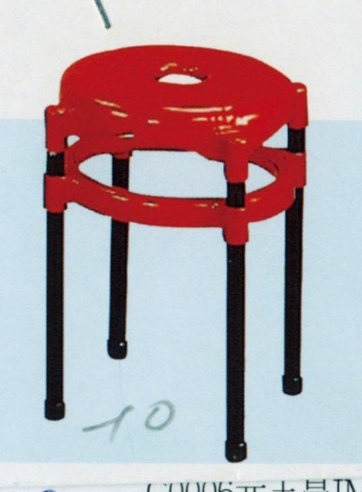 【石川家居】YU-416-10 A 塑鋼紅面中洞椅(不含 ) 台北到高雄 車趟免運