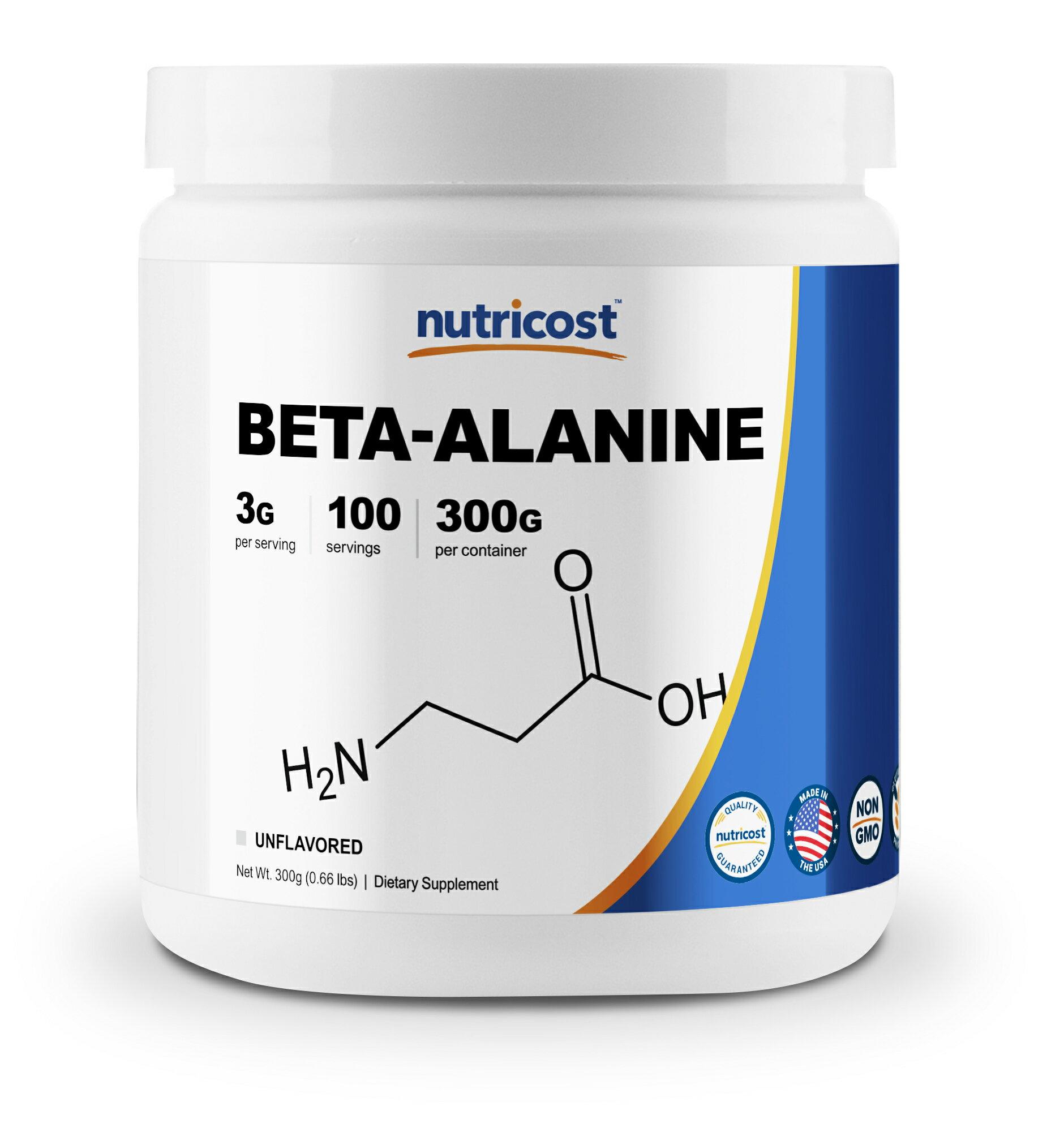 Nutricost Beta Alanine Powder 300 Grams - Pure Beta Alanine, Gluten Free &  Non-GMO